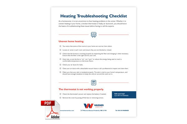 Heating Troubleshooting Checklist